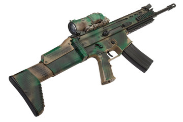 Special Operations Forces Combat Assault Rifle isolated