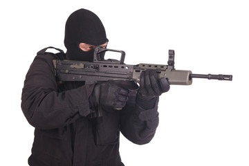 mercenary with l85 rifle