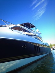 Luxury yacht abstract.