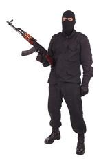 mercenary with AK 47