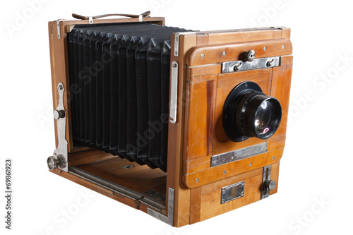 Poster Old Wooden Big Format Camera