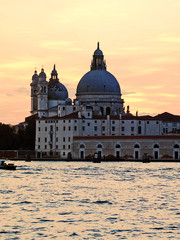 Sunset at the Madonna della Salute Church, Venice