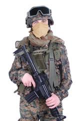US MARINES with m4 carbine
