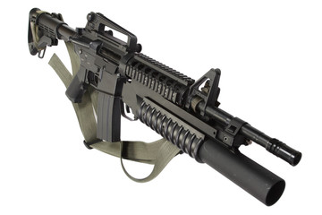 M4 carbine equipped with an M203 grenade launcher