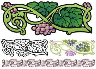 Art nouveau border element