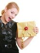 holidays love happiness concept - girl with gift box