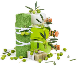 Green olive cosmetic products