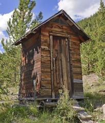 Log Cabin in Mining Town, Western USA