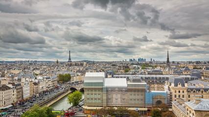 Paris Panorama toward Eiffel Tower Timelapse