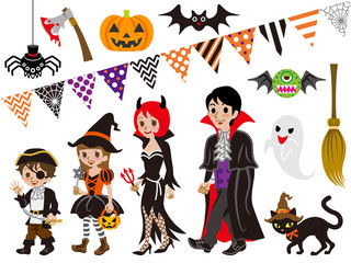 Halloween Family and Monsters set
