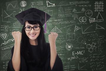 Asian graduate celebrate graduation 2