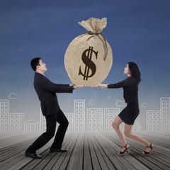 Business team get many income