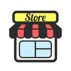 Stock vector store color supermarket flat icons