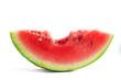 Slice of bitten watermelon