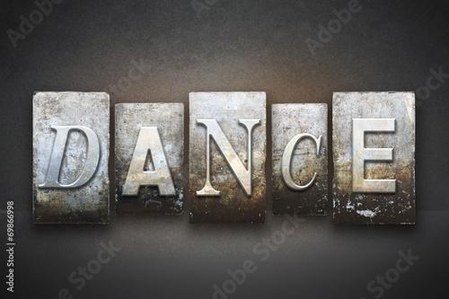 Naklejka Dance Letterpress