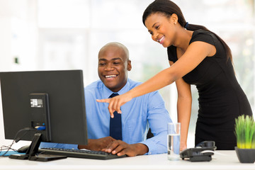 african businesspeople working at the office