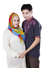 Islamic pregnant female and her husband
