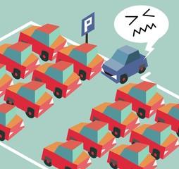 Parking crisis is a common problem