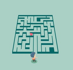 Finding love in maze