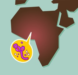 Ebola virus spreading in Africa