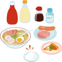 塩分が多く含まれる食品