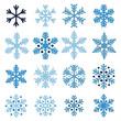 Various snowflakes