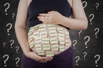 Pregnant woman finding baby names