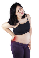 Pregnant woman getting back pain