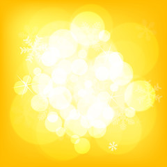 Abstract yellow christmas background