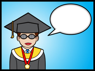 graduate student talking