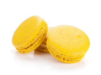 Yellow macaron cookies