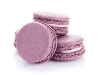 Purple macaron cookies