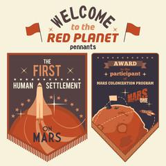 Award pennants for Mars colonization program