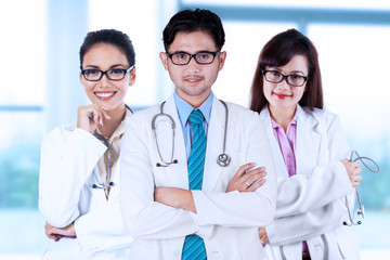 Three asian medical doctors