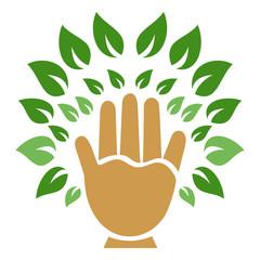 hand tree symbol