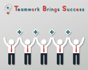 positive thinking teamwork business concept