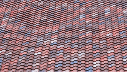 Roof tile pattern background