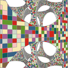 Mosaic Colorful Urban Geometric Structure Vector