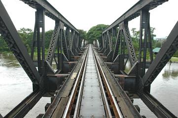 bridge train cross river