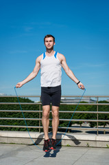 Jumping with skipping rope