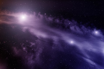 Space with nebula and bright stars.