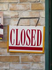 閉店の看板