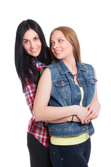 Portrait of two pretty women