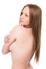 Portrait of sexy naked blond woman