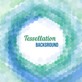 Abstract tessellation background poster