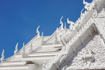 White temple roof a