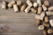 Assorted wine corks