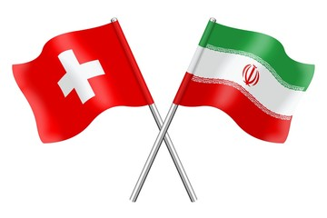 Flags: Switzerland and Iran