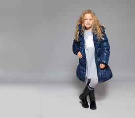 Children in winter clothes