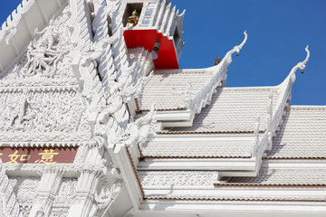 White temple roof